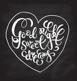 Romantic quote Good night Sweet dreams vector image