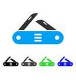 Swiss multitool knife flat icon vector image