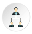 Team of employees icon flat style vector image