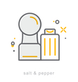 Thin line icons Salt Pepper vector image