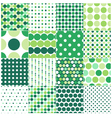 seamless green polka dots background vector image vector image