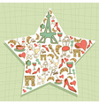 Travel Paris icon set star vector image