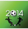 Silhouettes of football or soccer players vector image