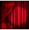 Red curtain and spot light EPS 10 vector image
