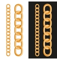Golden Chain om White and Black Background vector image