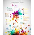 Creative color rich CV resume template vector image vector image