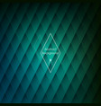abstract rhombic green background for your designs vector image