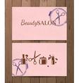 beauty salon cards vector image