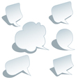 blank speech bubbles set vector image