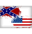 Confederate flag vs Union flag Civil war concept vector image