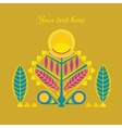 decorative abstarct card vector image