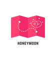 honeymoon icon with pink map pin vector image