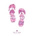 pink ruffle fabric stripes flip flops silhouettes vector image