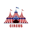 Vintage circus tent with flags and stars vector image