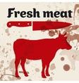 Fresh meat beef vector image