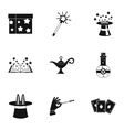 Witchery icons set simple style vector image