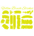 yellow brush strokes on white background vector image
