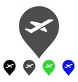 airport marker flat icon vector image