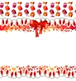 greeting card with garland and bow vector image vector image