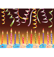 row of birthday candles vector image