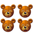 robot bear vector image vector image