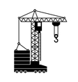 Tower Crane Icon in White Background vector image vector image