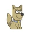 Dog Cartoon Style Funny Animal on White vector image