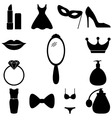 Beauty and fashion icons set vector image