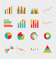 Collection of business diagrams charts vector image