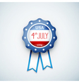 round label USA vector image