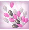 balloon background pink vector image