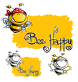 Bee Happy vector image