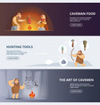caveman and woman in prehistoric period banners vector image