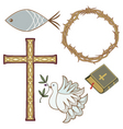 christian symbol vector image