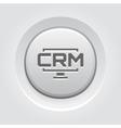 Desktop CRM System Icon Grey Button Design vector image