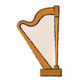 harp instrument isolated icon vector image