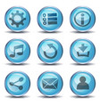 icons and buttons for ui game vector image
