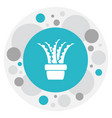 of agriculture symbol on aloe vector image