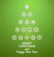 snowflakes christmas tree vector image