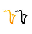 style comic logo of sax vector image