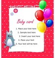 Baby Happy birthday card pink vector image vector image