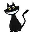 a black cat vector image