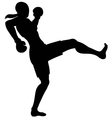 front kick female vector image vector image