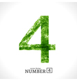 Grunge Number 4 vector image vector image