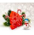 Festive Winter Big Sale Poster vector image vector image