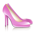 Pink shoes vector image vector image