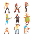 musicians and singers of different music styles vector image