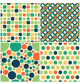 seamless circular pattern vector image vector image