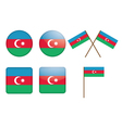 badges with flag of Azerbaijan vector image vector image