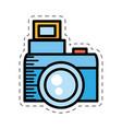 cartoon photo camera picture image vector image